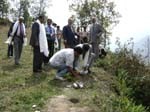 Tree plantation at university campus site inspection by UGC inspection committee members